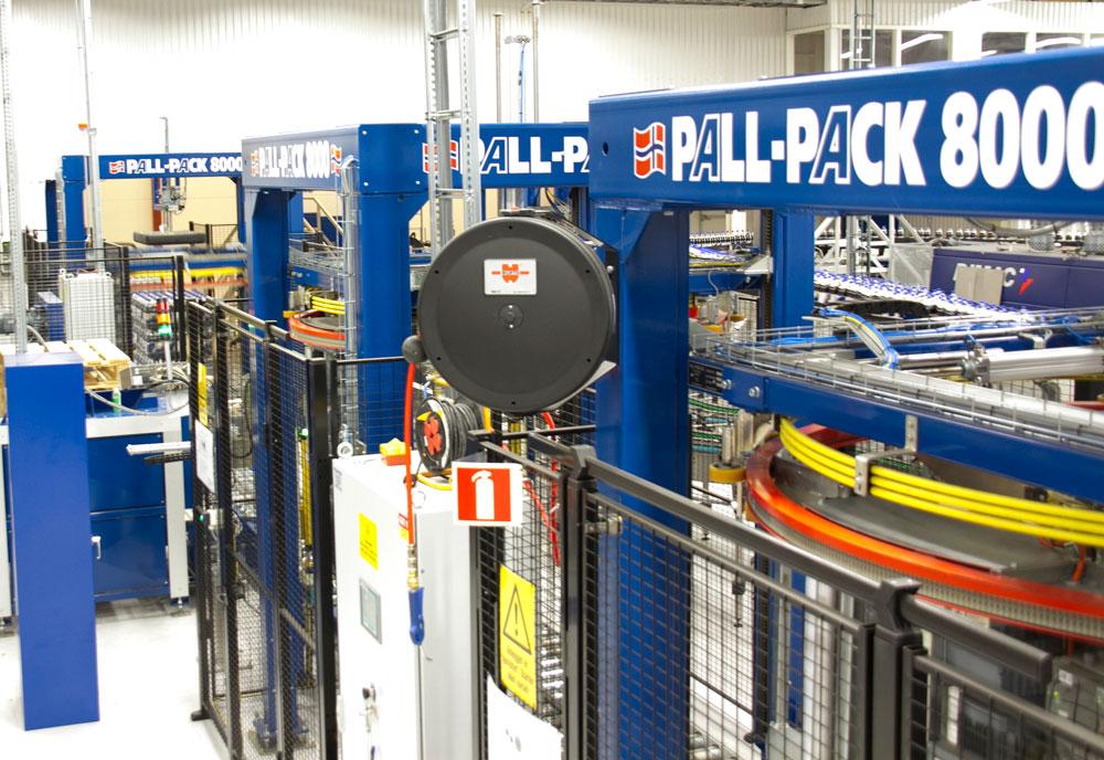 Pall-Packs strekkfilmsmaskiner produseres i Norge.