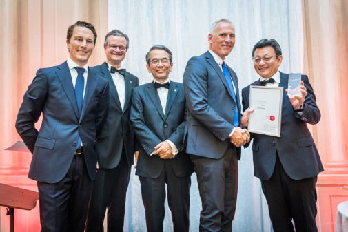 Dustin Norge med Canon Growth Award
